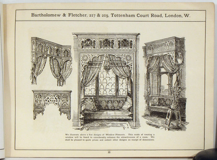 Bartholomew & Fletcher. 1890s HOME FURNISHINGS CATALOG.