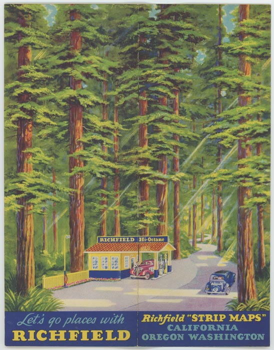 "Richfield Strip Maps. Pacific Coast Highways. (Cover title: Richfield ""Strip Maps"" California Oregon Washington. Let's go places with Richfield. WEST COAST TOURING - CALIFORNIA / OREGON /WASHINGTON."