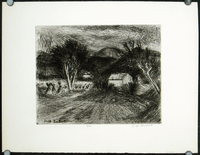 [Untitled etching]. JEAN-CLAUDE IMBERT.