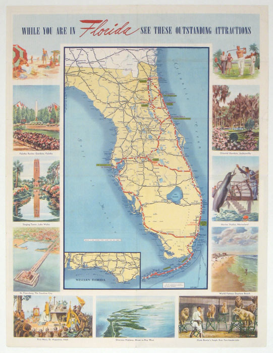 While you're in Florida See these outstanding attractions. FLORIDA.