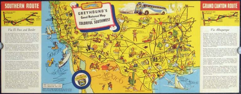By Greyhound Across America Historic routes through the Colorful Southwest  by UNITED STATES - SOUTHWEST on oldimprints.com