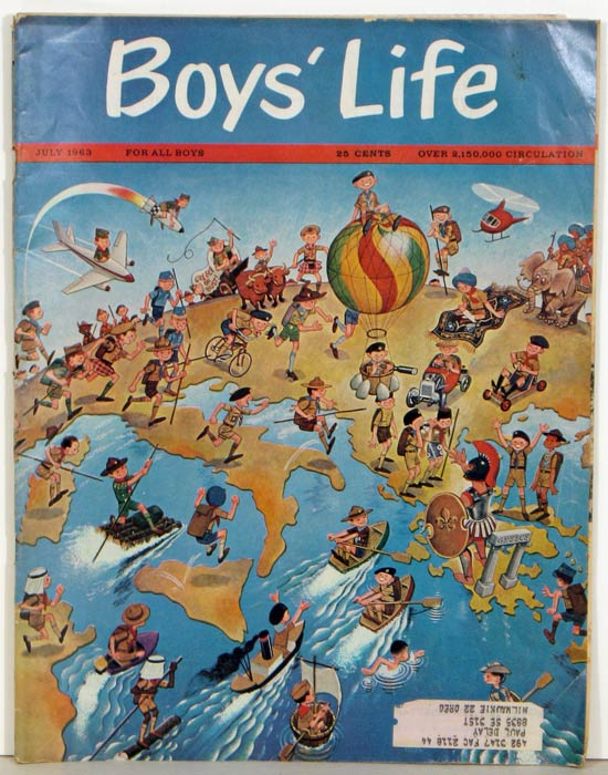 Boy's Life. The Boy Scouts' Magazine. 1963 - 07. ITALY - PICTORIAL MAP.