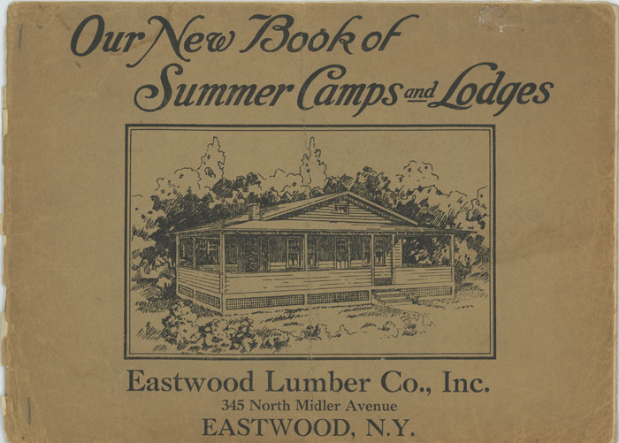 Our New Book of Summer Camps and Lodges. 1920s HOUSE PLANS.