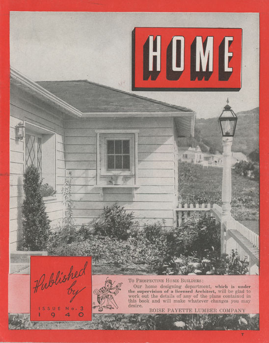 Home. Issue No. 3. 1940s HOUSE PLANS.