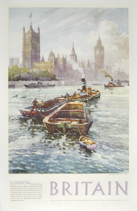 London Britain. [VINTAGE POSTER]. ENGLAND - LONDON.