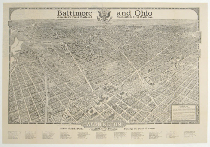 Washington The Beautiful Capital of the Nation. Baltimore and Ohio. America's First Railroad. Washington's First Railroad. WASHINGTON D. C.