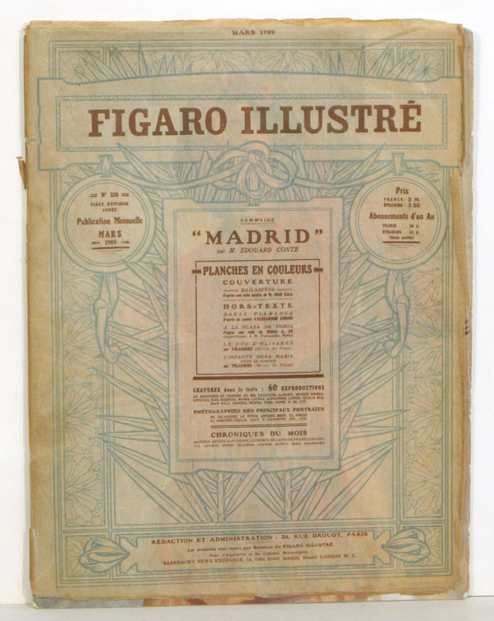 Figaro Illustré. SPAIN - MADRID ARTISTS ISSUE.