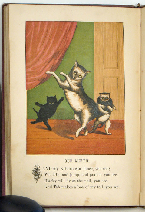 Funny Animals; A Picture Book for the Nursery. CATS - VICTORIAN ENGLAND.