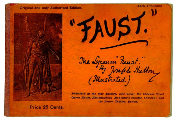 "Faust: The Lyceum ""Faust"" by Joseph Hatton (Illustrated). Joseph FAUST - SOUVENIR PROGRAM Hatton."