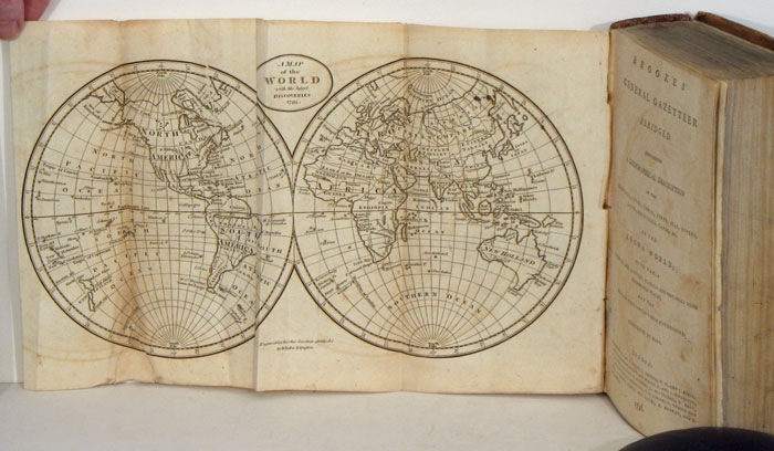 Brookes' General Gazetteer Abridged. Containing a Geographical Description of the Countries, Cities, Towns...in the Known World. WORLD / UNITED STATES, Brookes, Richard.