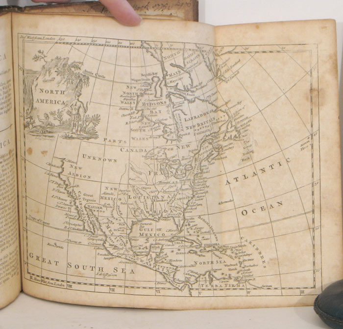 """A New Geographical and Historical Grammar; Containing the True Astronomical and Geographical Knowledge of the Terraqueous Globe: and also the Modern State of the Several Kingdoms of the World. ASTRONOMICAL AND GEOGRAPHICAL STUDIES - WORLD - NORTH AMERICA, """"with Great Amendments Salmon, by Mr. Robertson."""" Improvements, Thomas."""