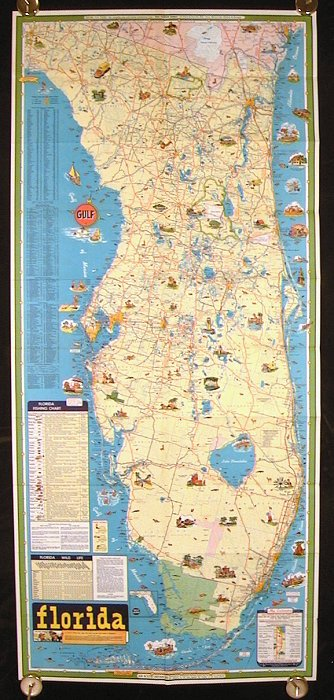 Florida Tourgide Vacation Map. FLORIDA.