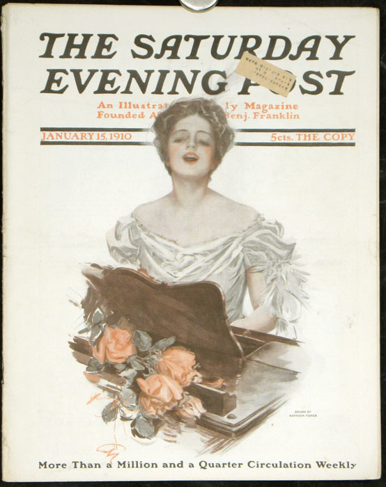 """The Saturday Evening Post. DANIEL FROHMAN ON AMERICAN DRAMA, """"Why Our Plays Fail Abroad"""""""