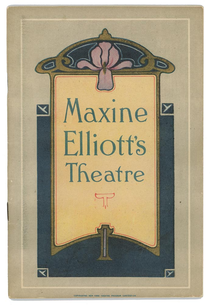 Jeanne Eagels in Rain. 1923 THEATRE PROGRAM, Colton and Randolph.