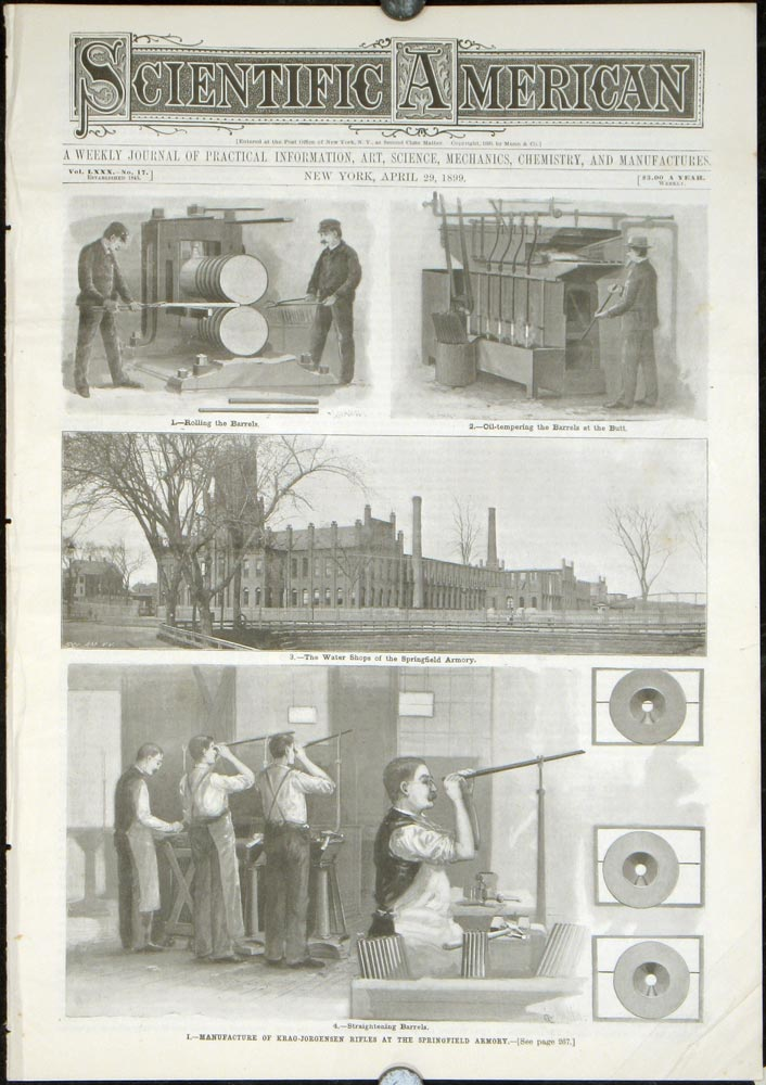 Scientific American. A Weekly Journal of Practical Information... Manufacture of Krag-Jorgensen Rifles at the Springfield Armory / Manufacture...at the Springfield Arsenal. GUNS - MANUFACTURE IN 19TH CENTURY AMERICA / SUTRO BATHS CALIFORNIA.