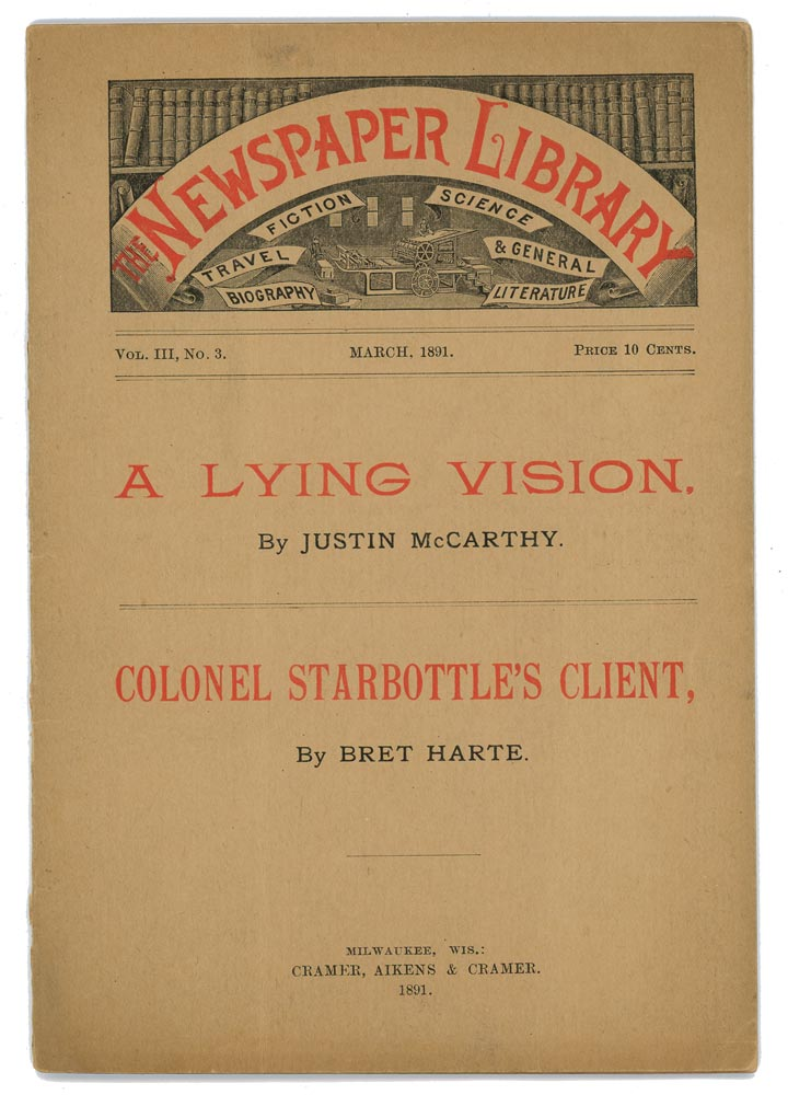 """Colonel Starbottle's Client"" in The Newspaper Library (magazine"