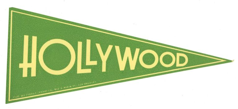 Hollywood. [LUGGAGE LABEL]. CALIFORNIA - HOLLYWOOD.