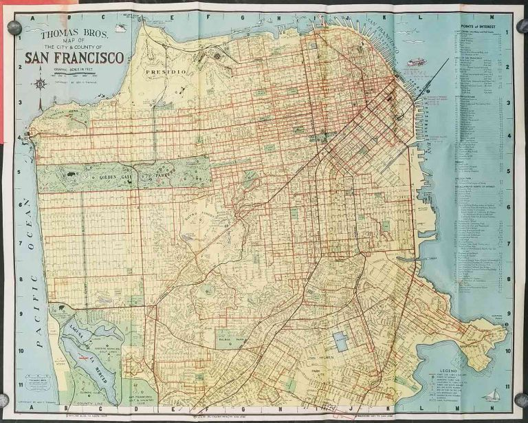 Thomas Bros. San Francisco Info-Guide. And Complete Detailed ...