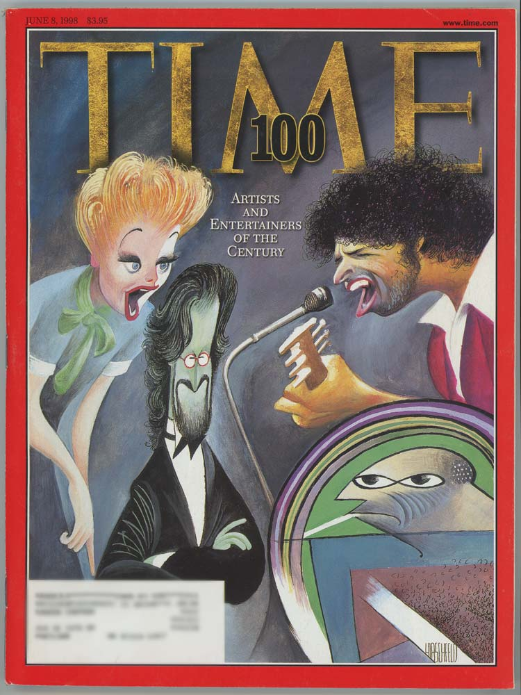 Time Magazine. June 8 1998. ARTISTS AND ENTERTAINERS OF THE 20th CENTURY.
