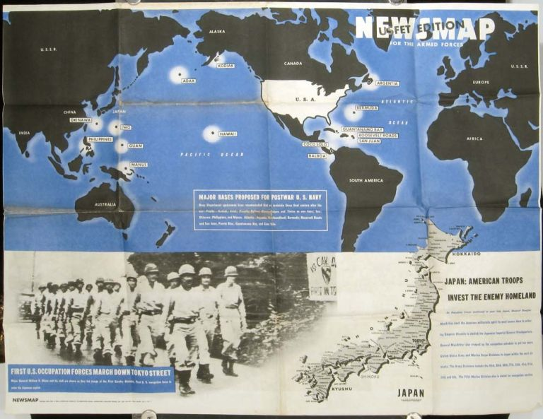 Newsmap for the Armed Forces. September 10, 1945. USFET Edition. U S. MARINES - WORLD WAR II - OCCUPATION OF JAPAN.