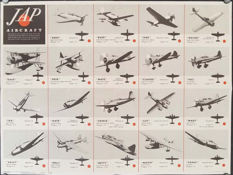 Jap Aircraft. Newsmap Overseas Edition. Monday, August 16, 1943. Week of August 5 to August...