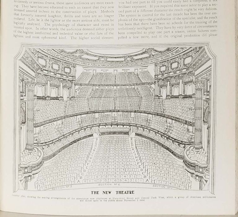 The Theatre: Illustrated Monthly Magazine of Dramatic and Musical Art. 1909. AMERICAN THEATRE - VINTAGE PHOTO-ILLUSTRATED MONTHLY MAGAZINE.