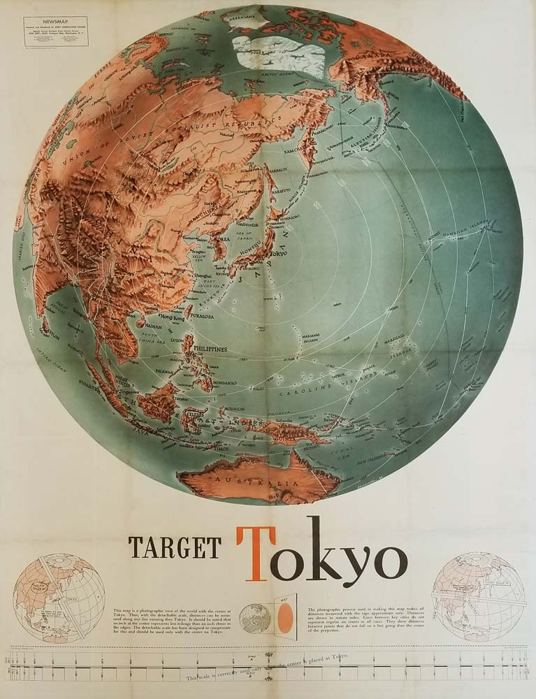 Target Tokyo. Newsmap for the Armed Forces. Monday, October 18, 1943. 214th Week of the War - 96th Week of U.S. Participation. JAPAN - WORLD WAR II - PROPAGANDA.