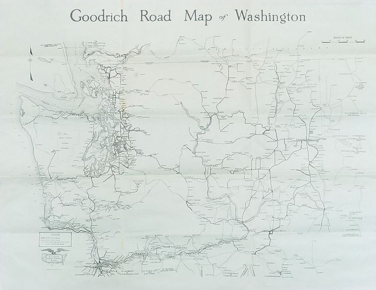 Goodrich Road Map of Washington | WASHINGTON STATE - AUTOMOTIVE ROAD MAP