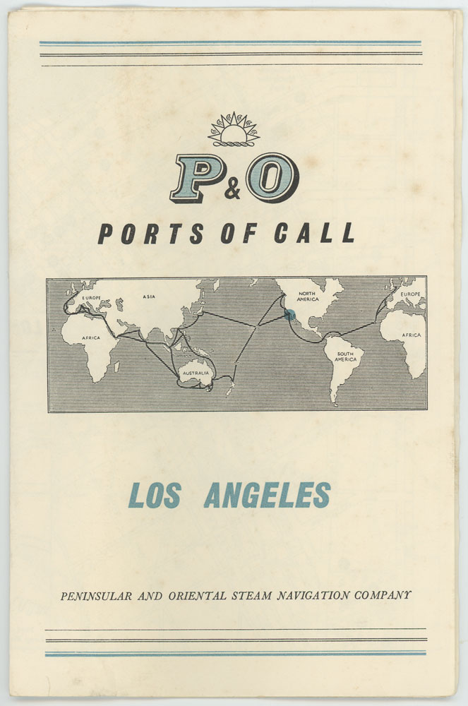 P & O Ports of Call. Los Angeles. P, O / CALIFORNIA - LOS ANGELES.