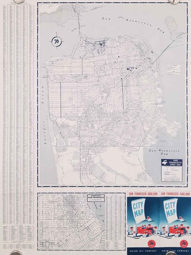 San Francisco-Oakland City Map. Union Oil Company. CALIFORNIA - SAN FRANCISO / OAKLAND / LAND RECLAMATION.