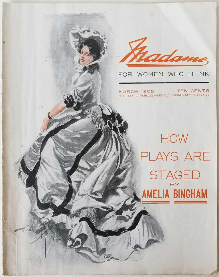 Madame - For Women Who Think. March 1905. The Official Organ of the National Council of Women of the United States. FEMINISM / FASHION / DOMESTIC / MUSIC.