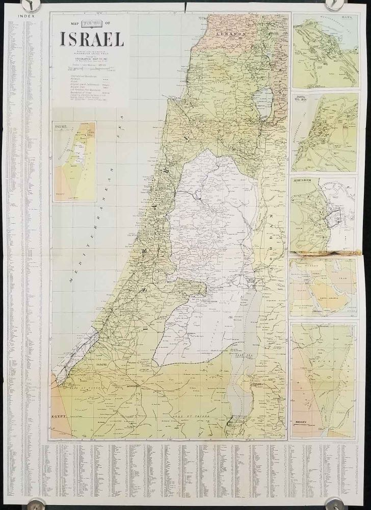 Map of Israel. (Cover title: The Standard Map of Israel. The Most Comprehensive Map of its Kind.). ISRAEL.