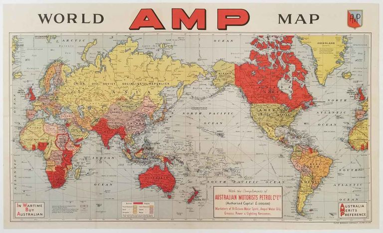 AMP World Map | WORLD - WORLD WAR II - EUROPEAN COLONIALISM