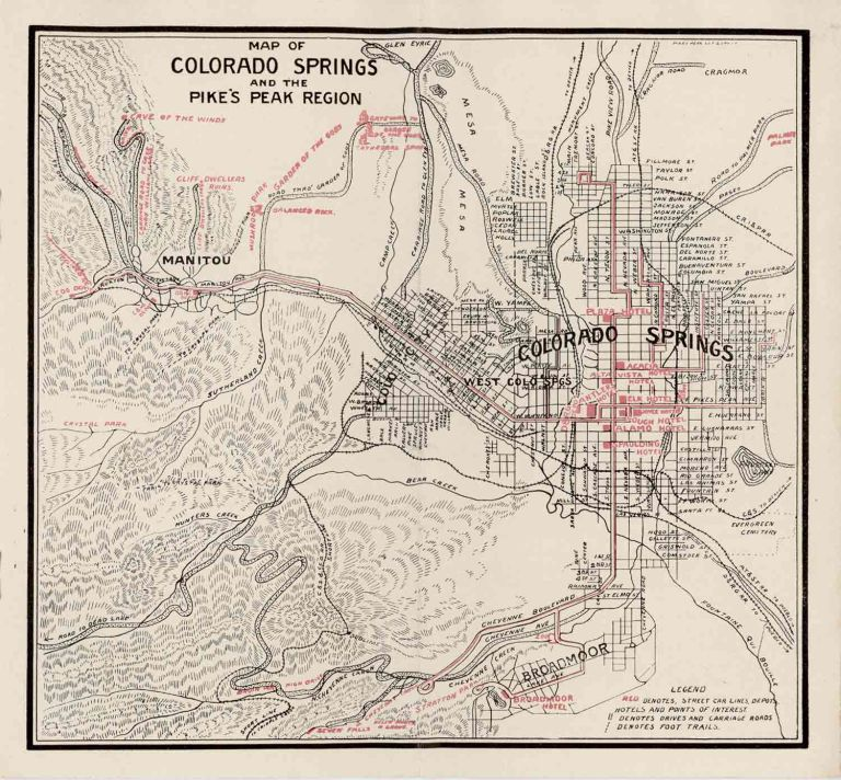 Colorado Springs. The Gateway to Colorado's Grandest Scenery. Free Guide and Map of Colorado Springs. COLORADO - COLORADO SPRINGS.