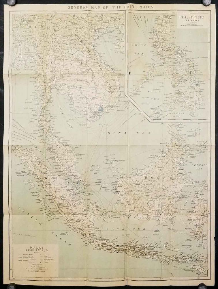 General Map of the East Indies. Malay Archipelago / Philippine Islands. ASIA - EAST INDIES.