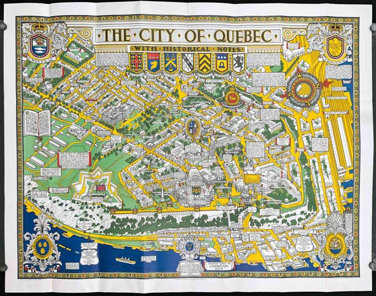 The City of Quebec with Historical Notes. (Envelope title: Map of the City of Quebec with Historical Notes). CANADA - QUEBEC.