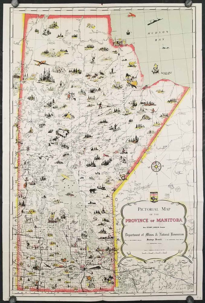 Pictorial Map of the Province of Manitoba (Cover title: Manitoba, Canada's Keystone Province). CANADA - MANITOBA.