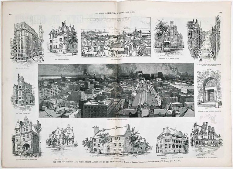 The City of Chicago and Some Recent Additions to its Architecture. IN COMPLETE ISSUE OF HARPER'S WEEKLY. ILLINOIS - CHICAGO.