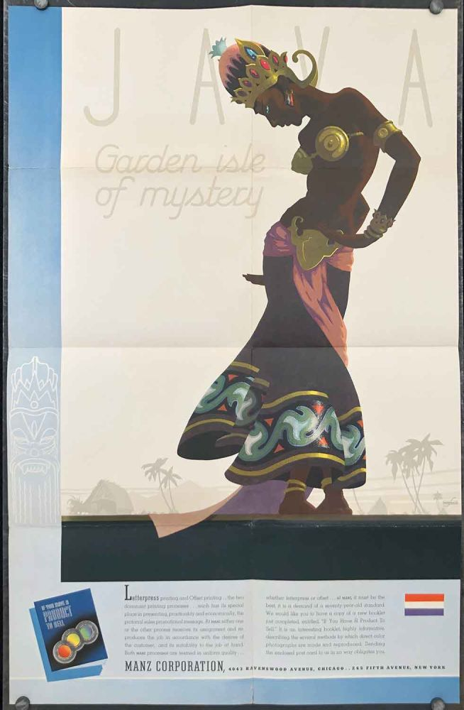 It's A Colorful Old World. [Java Garden Isle of Mystery poster.]. JAVA POSTER / CHINA / LETTER PRESS PRINTING BROCHURE.