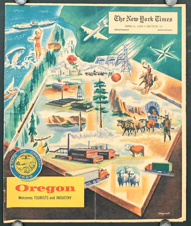 Oregon Welcomes Tourists and Industry. OREGON.