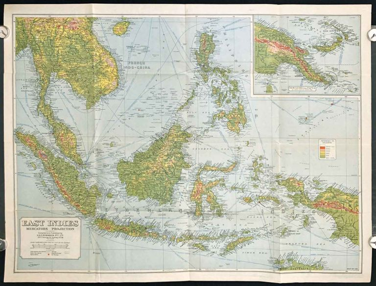East Indies .Mercators Projection. Map No. 316. SOUTH EAST ASIA - BORNEO / INDONESIA / PHILIPPINES.