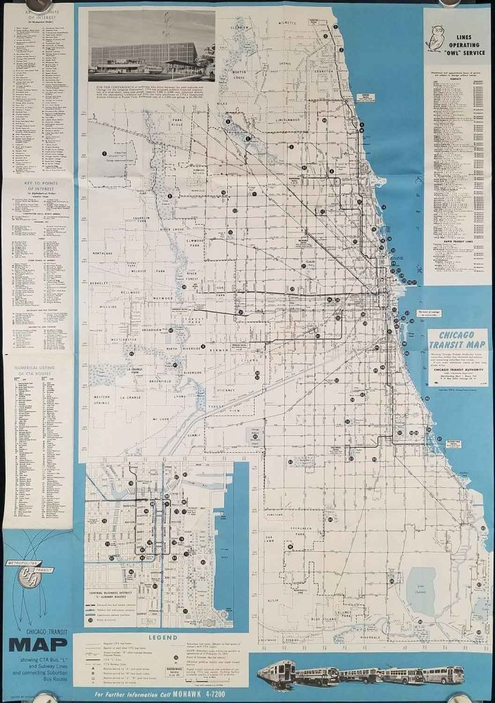 Chicago Subway Map Picture.Chicago Transit Map By Illinois Chicago On Oldimprints Com
