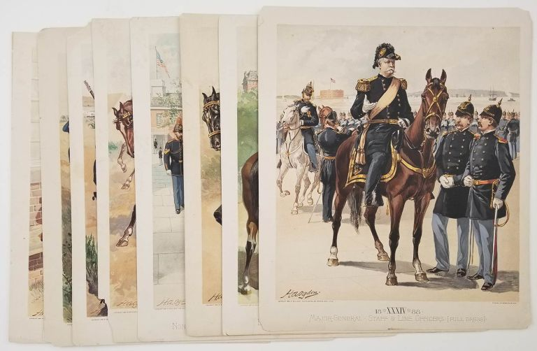 [EIGHT CHROMOLITHOGRAPHS from Uniform of the Army of the United States] Army Uniforms 1802-1888. UNITED STATES - MILITARY UNIFORMS LATE 1800s.