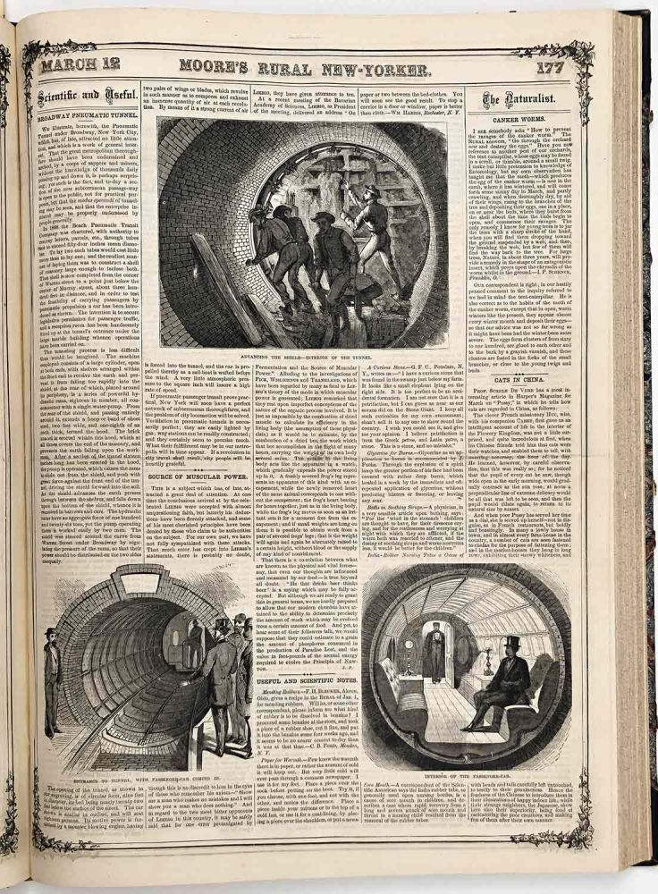 Moore's Rural New-Yorker. 1870. NEW YORK SUBWAY CHARLES DICKENS, DOMESTIC HUSBANDRY ETC., AGRICULTURE.