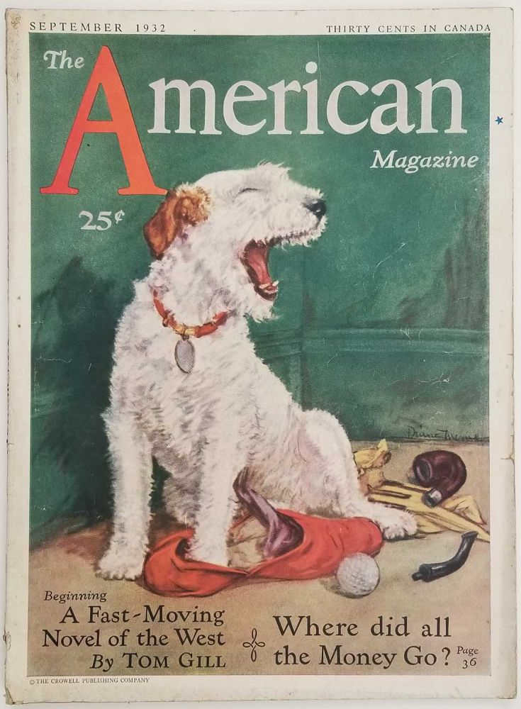 The American Magazine. September 1932. DOGS / AVIATION.