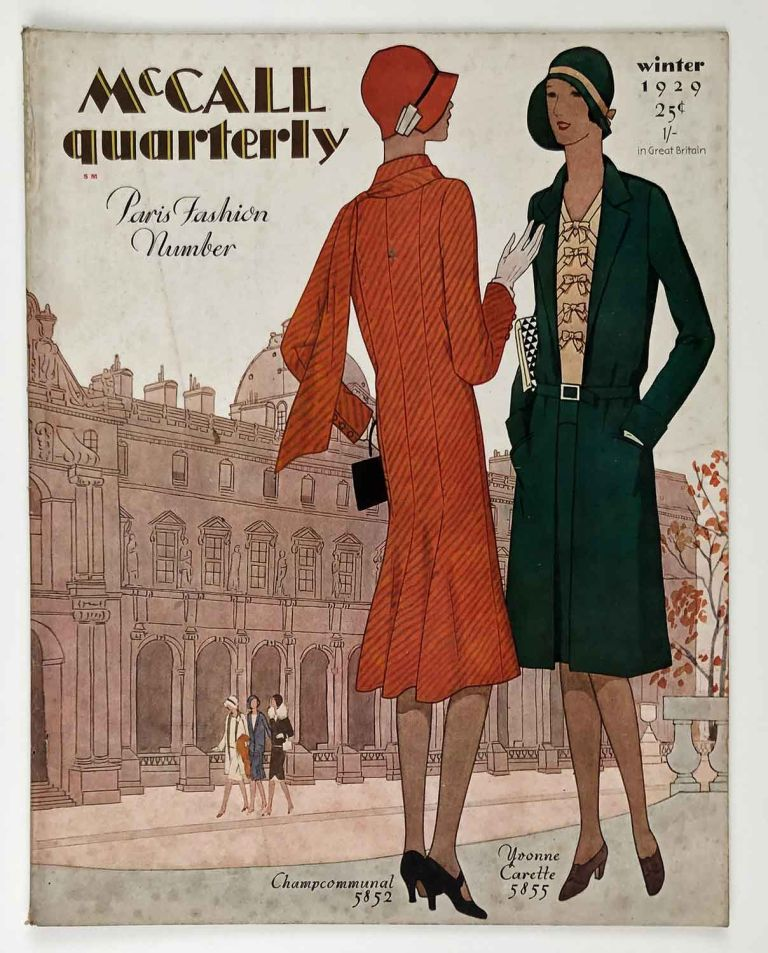McCall quarterly. Paris Fashion Number. Winter 1929. 1920s FASHION - FRENCH INFLUENCE.