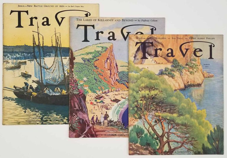 Travel. March, April, May 1933. [VINTAGE MAGAZINE - THREE ISSUES