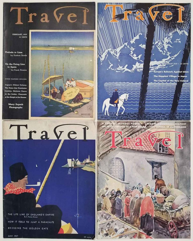 Travel. February, May, June, August 1937. [VINTAGE MAGAZINE - FOUR ISSUES]. JAPAN / SAN FRANCISCO / BOULDER DAM / THIRD REICH.