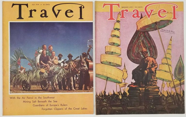 Travel. January and July 1939. [VINTAGE MAGAZINE - TWO ISSUES]. BURMA / COAST GUARD / GREAT LAKES, Osbert Lancaster.