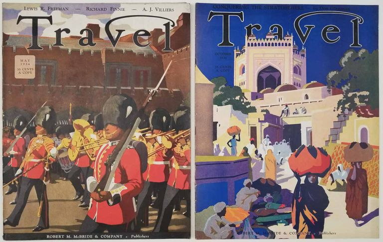Travel. May and October 1934. [VINTAGE MAGAZINE - TWO ISSUES]. BOULDER DAM / YOSEMITE / CATS / TURKEY.